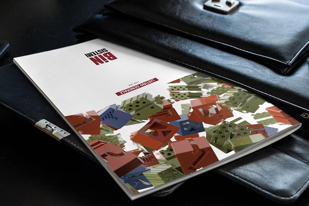 AdOpera, studio pubblicitario, comunicazione, immagine. Grafica, cataloghi, depliant, packaging: listino BIN SISTEMI