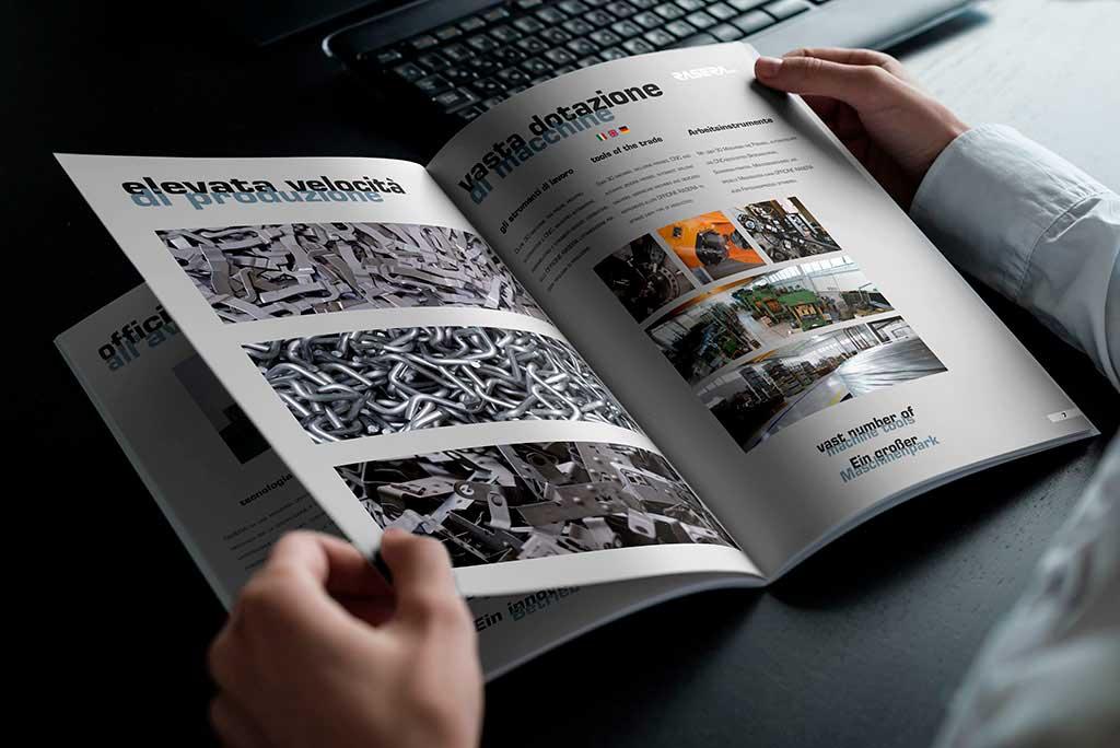 AdOpera, studio pubblicitario, comunicazione, immagine. Grafica, cataloghi, depliant, packaging: catalogo RASERA